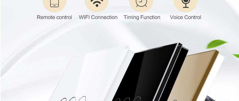 کلید لمسی 3 پل wifi