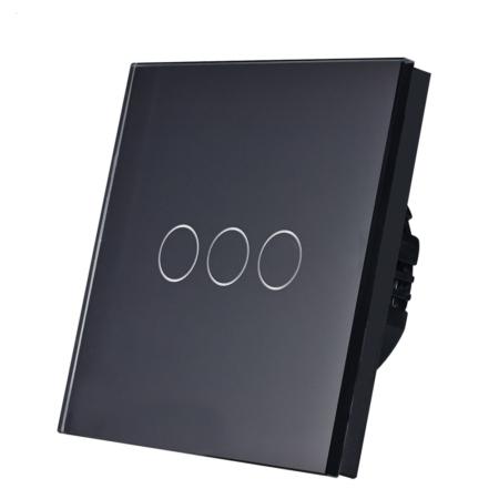 کلید لمسی 3 پل مشکی wifi