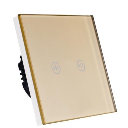 کلید لمسی پرده برقی طلایی